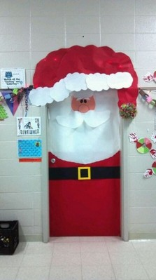 美国幼儿园 小学教室布置 圣诞节 美国学校创意教学 高端
