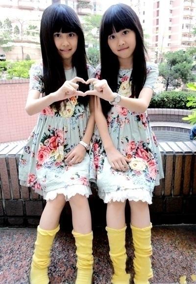 提要台湾超人气双胞胎小美女sandy&