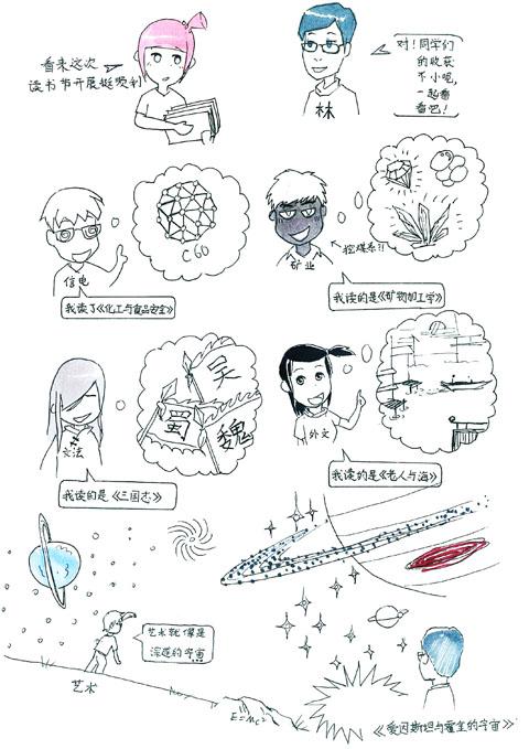 大学生自创漫画校园走红矿大生涯漫画僵持的图片