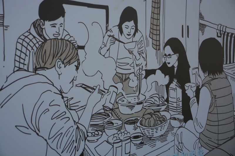 """大学生手绘""""情画"""" 画出北京好故事"""
