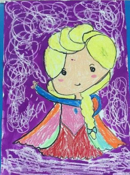 """组图:广西六岁女孩画出""""梦幻城堡"""""""