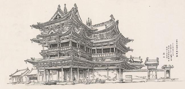 """""""一带一路""""历史建筑摄影手绘艺术展在京开幕"""