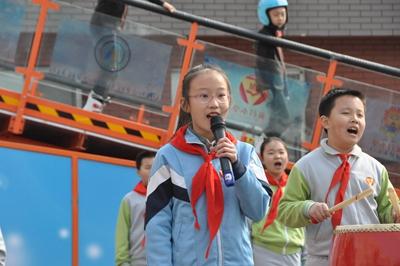 北京前门小学开学师生冰雪中感受奥运精神