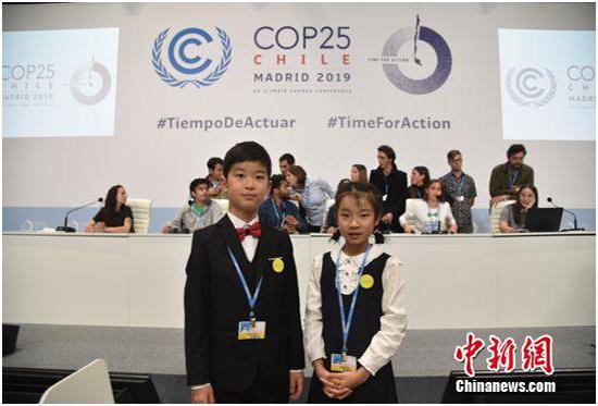 中国小学生在世界舞台力挺环保