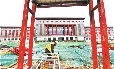 中央民族大学新校区正式复工 首批5000余名学生9月入住