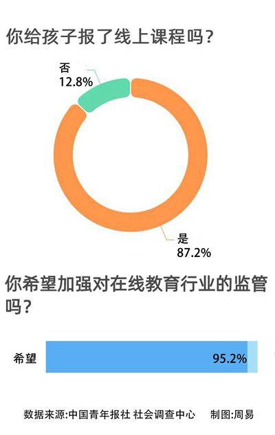 87.2%受访家长给孩子报了线上课 最担心影响视力和互动性差