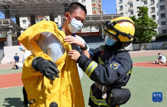 升学教育:乌鲁木齐:消防安全进校园